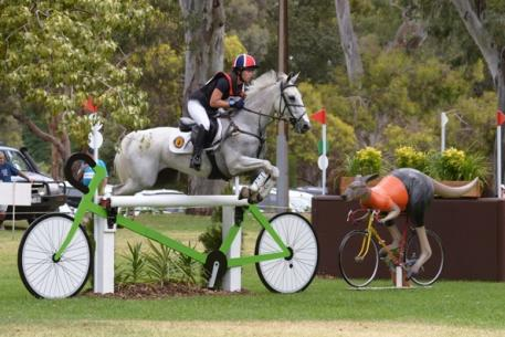 Jessica Manson leads after the Cross Country phase of FEI Classics™ at the Australian International 3 Day Event in Adelaide with Legal Star - all eyes now on the Jumping on 16 November. (Julie Wilson/FEI)
