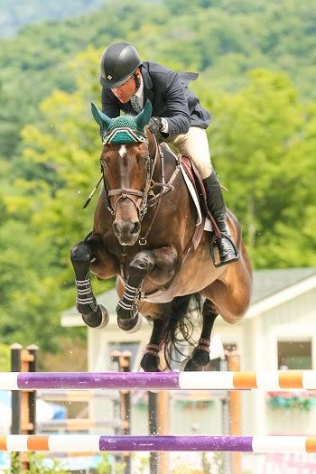 Jimmy Torano and Wannahave won the $30,000 Manchester & the Mountains Grand Prix on August 2 at the Vermont Summer Festival in East Dorset, VT. Photo by David Mullinix Photography