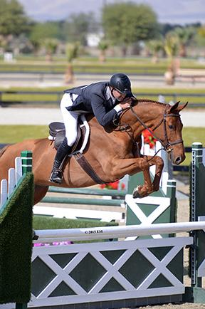 John Bragg and Social Hour win the $5,000 Devoucoux Hunter Prix Sunday, February 22, 2015, at HITS Thermal. c) ESI Photography