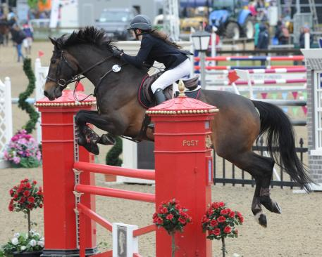Britain's Jordan Marshall, 17, claimed her first senior international win at Royal Windsor Horse Show riding Unique in the CSI1* Thames Speed Stakes