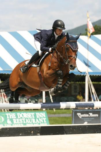 Julie Welles and Twan won the $50,000 Vermont Summer Celebration Grand Prix on August 9 during the sixth and final week of the Vermont Summer Festival in East Dorset, VT.  Photo by David Mullinix Photograph