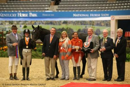 Kelley Farmer and Mindful were the High Performance Hunter grand champions. Photo by Emily Riden/Phelps Media Group.