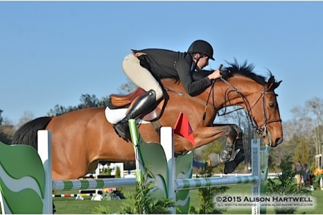 Perfect blue skies made way for blue ribbons for Kocher and Carolina Suarez' Ufarno in the 5,000 Horseflight Open Welcome at the Gulf Coast Winter Classic Week IV