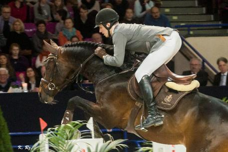 Latvia's Kristaps Neretnieks won the FEI World Cup™ Jumping Central European League Final 2015 at Warsaw, Poland. (FEI/Karol Rzeczycki)