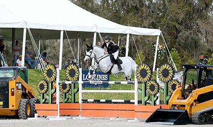 Kristen VanderVeen and Bull Run's Faustino de Tili Star in the $50,000 Horse Power Grand Prix at HITS Ocala Sunday, March 1, 2015. (c) ESI Photography