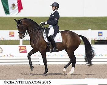 Megan Lane, 24, of Collingwood, ON, rode her own Caravella, the mare that she has grown up with, in her Pan Am Games debut. (Photo ©: Cealy Tetley - www.tetleyphoto.com)