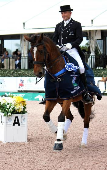 Lars Petersen riding Mariett, owned by Marcia Pepper