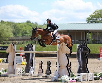 Laura Chapot and ISHD Dual Star, owned by Mary Chapot, place first in the $25,000 SmartPak Grand Prix at HITS-on-the-Hudson I on May 22, 2015. (c) ESI Photography