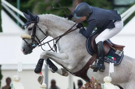 Laura Kraut and Cedric during the Lord Piana Grand Prix City of Rome. Photo © Marta Fusetti
