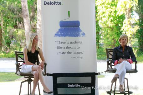 Laura grave and Judy Sloan of the accounting and financial consulting company, Deloitte. Photo Su3 Weakley