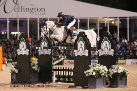 Laura Kraut and Cedric finished third on Saturday, March 7, 2015, during the $372,000 FEI World Cup Grand Prix at the Winter Equestrian Festival.