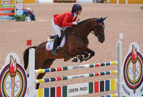 Lauren Kieffer and Meadowbrook's Scarlett help the United States Eventing Team to Team Gold medals at the 2015 Pan American Games (Photo: Jenni Autry/Eventing Nation)