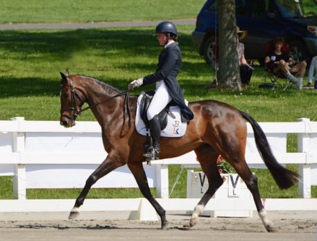 Lauren Kieffer and Meadowbrook's Scarlett (Photo: Jenni Autry/Eventing Nation)