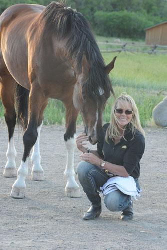 Horse trainer and behaviorist Linda Parelli