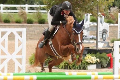Lisa Goldman and Morocco sped to the top of the 0,000 Welcome Stake in 32.842 seconds during the Showplace Productions Fall Classic Championship.