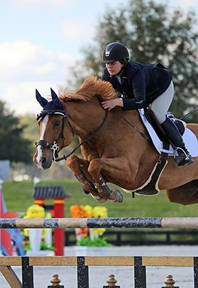 Lisa Goldman and Morocco go double clear in the Brook Ledge Open Welcome. (c) ESI Photography