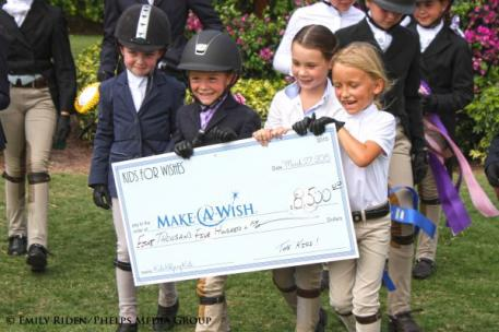 The Kids for Wishes Invitational Hunter Derby raised $8,500 for Make-A-Wish South Florida.