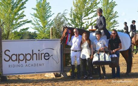 Doug Boyd, Mimi Rothchild, Anna Kubiak and Ashley Hill with Maria Rasmussen and Memorable. Photo by Chicago Equestrian.
