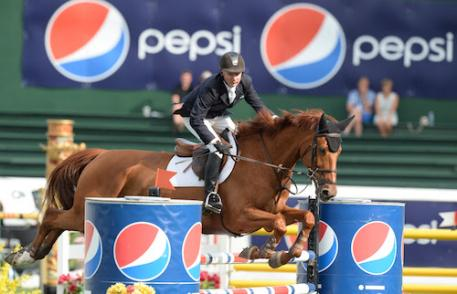 Mario Deslauriers and Scout de la Cense (Photo: Spruce Meadows Media)