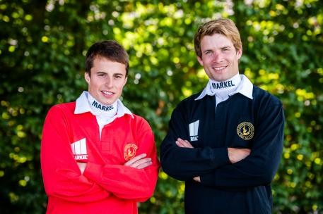 Markel's Ambassador jockeys, Sam Thomas and William Buick. Photo by Matthew Joseph