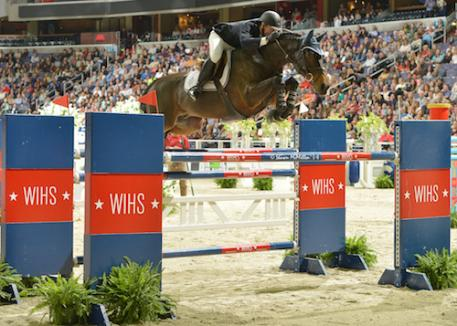 McLain Ward (USA) and HH Carlos Z raced to win the 2014 President's Cup Grand Prix CSI 4*-W, presented by Events DC at the 56th annual Washington International Horse Show (WIHS). Photo copyright Shawn McMillen Photography.