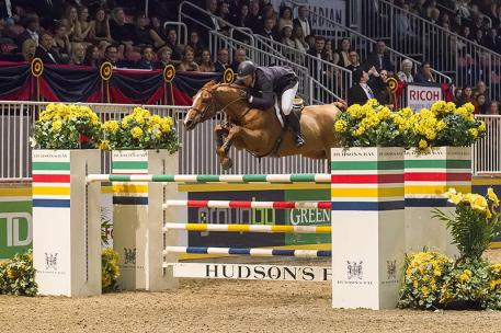 Brewster, NY's McLain Ward made it back-to-back wins with Rothchild in the 00,000 Hickstead FEI World CupTM Grand Prix, Presented by Hudson's Bay, tonight, at the CSI4*-W Toronto, the Royal Horse Show. Photo: BenRadvanyi.com