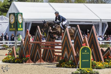 Germany's Michael Jung and Fischerrocana FST, winners of the 2015 Rolex Kentucky Three-Day Event, presented by Land Rover. (Photo:Ben Radvanyi)