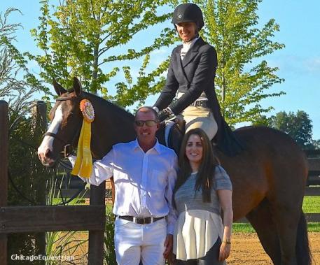 Molly McAdow and Charlie Brown came from behind for third place in the Chicago Hunter Derby's USHJA National Derby. Photo by Chicago Equestrian.