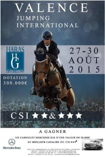 Official poster of the Jumping International of Valence (©RBpresse)