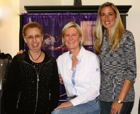 Michele Hundt of ShowChic, Karin Reid Offield, and Krystalann Shingler of ShowChic (from left to right) at Shop Talk