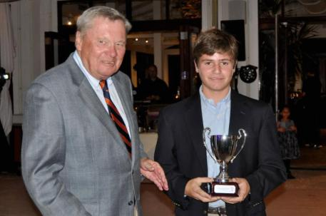 Dick Riemenschneider, Chairman of the PTF Board and Most Improved Junior Player, Oliver Firestone (Photo:Alannah Castro)