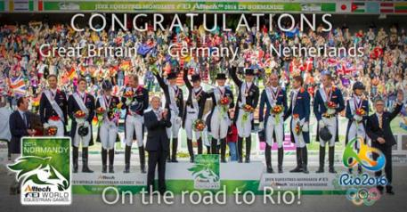 Germany, Great Britain and The Netherlands on the road to Rio de Janeiro (BRA) in two years' time Picture FEI