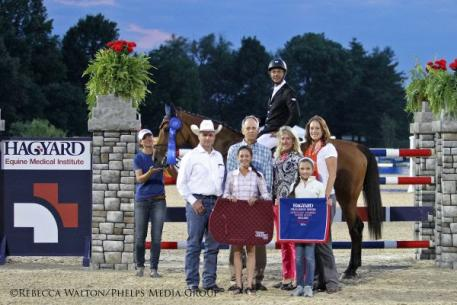 Pablo Barrios Wins 2014 Hagyard Challenge Series $50,000 Leading Rider Award. Rebecca Walton/Phelps Media Group