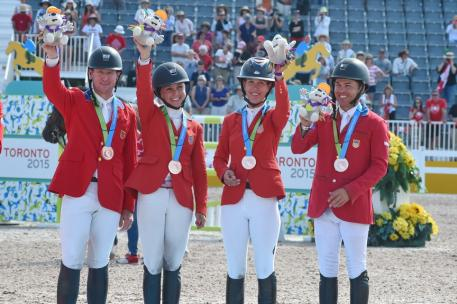 Bronze USA with 12 total faults for team members McLain Ward on Rothchild, Georgina Bloomberg on Lilli, Lauren Hough on Ohlala and Kent Farrington on Gazelle Photo: © Diana De Rosa