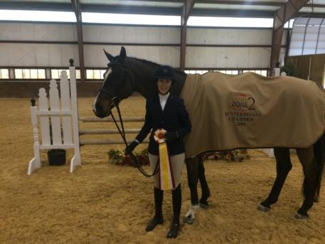 Patricia Allison and Rhineback, reserve champions in the Adult Amateur Hunters