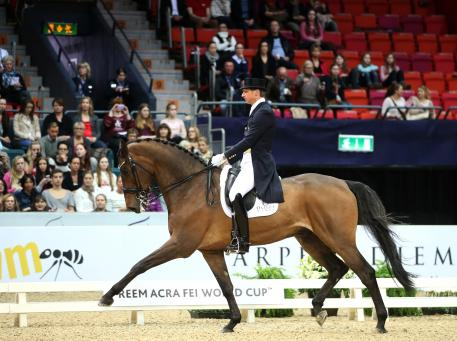 Patrik Kittel SWE and Toy Story were 4th place in the Reem Acra EI World Cup Grand Prix   kür. (Photo: Roland Thunholm)