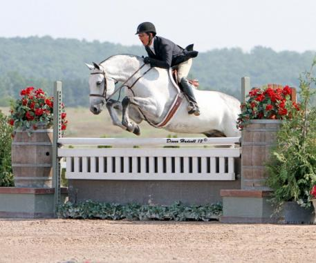Peter Pletcher and Carlano at beautiful Flintfields Horse Park. Photo by Diana Hadsall