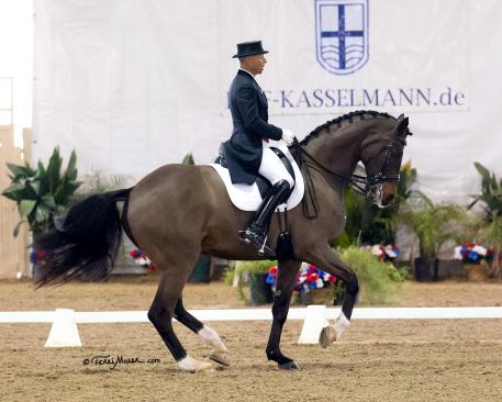 Steffen Peters and Legolas 92 score personal best in the Gran d Prix Freestyle! (Photo: Terri Milller)