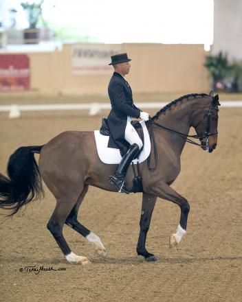 Steffen Peters and Legolas 92 back in winning form at the Mid-Winter Dressage Fair CDI-W. (Photo: Terri Miller)