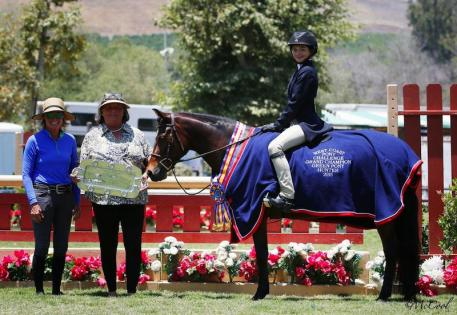 Overall Grand Champion Green Pony Touche' and Sara Murphy (Photo: McCool)