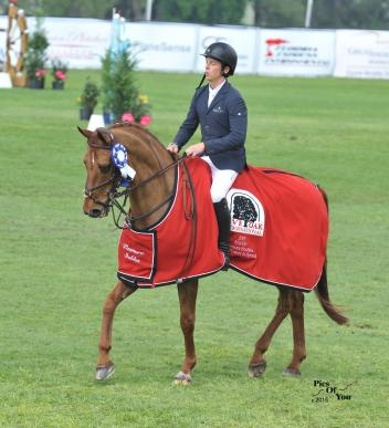 Angel Karolyi and Wings soared to the win in the Pasmore Stables Power & Speed 1.35m class in 36.98 seconds (Photo:PicsofYou.com)
