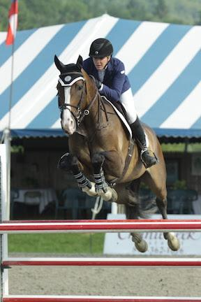 Rebecca Meitin and Zulu won the $2,500 Marshall & Sterling Adult Amateur Jumper Classic on Sunday, July 19, at the Vermont Summer Festival in East Dorset, VT. (Photo: David Mullinix Photography)