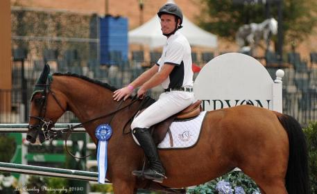Richie Moloney the presentation ceremony for the $34,000 Tryon 1.45m Challenge (Photo: ©LizCrawleyPhotography)