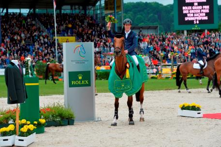 cott Brash, winner of the Rolex Grand Prix Aachen 2015. (picture: Rolex Grand Slam/ Kit Houghton)
