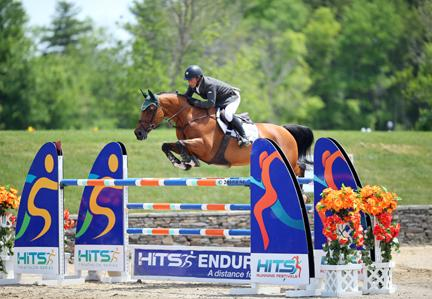 Ronan McGuigan and his Capall Zidane won Sunday's $50,000 HITS Grand Prix. (c) ESI Photography