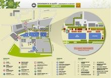 Village Map for Spectators with tickets