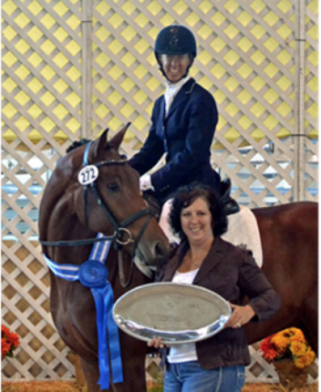 Amy Miller and US Bred Encore won the CDS Young Horse Futurity for Five-Year olds. Photo by Jennifer Keeler