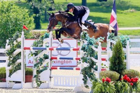 Shane Sweetnam and Cyklon 1083 won the $34,000 Welcome Stake CSI3* at the Kentucky Spring Classic.
