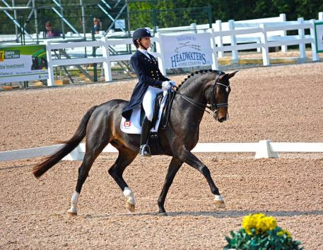 Shannon Dueck and Cantaris are top contendors for the 2015 Pan American Games Canadian Dressage Team (Photo: Jessica Mendoza)