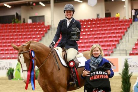 Shawna Dunn and her mount Leilani. Photo by Anna Skripets Photography.